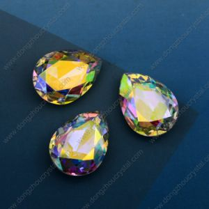 Colored Glass Stones, Crystal Fancy Stone Pear Cut Crystal Ab Glass Stones Jewelry pictures & photos