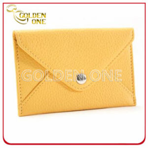 Wholesale Fashion Simple Design PU Leather Card Holder pictures & photos