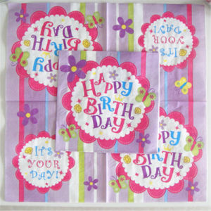 with 5 Years Manufacture Experience Factory Supply Paper Napkins for Birthday pictures & photos