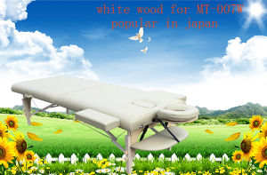 White Beech Portable Massage Table with Full Accessories Mt-007W pictures & photos
