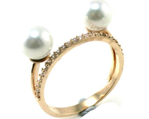 Newest Design Fashion Jewelry 925 Silver Pearl Ring (R10384) pictures & photos