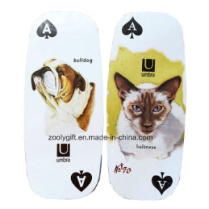 Die-Cut Oval Long Playing Card / Customized Pet Dog Promotion Gift Paper Play Card pictures & photos