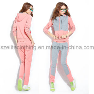 Hot Sale Cotton Fleece Tracksuit (ELTTSJ-44) pictures & photos