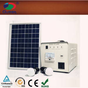 25W Solar Power System Easy for Home Lighting and Mibile Charging pictures & photos