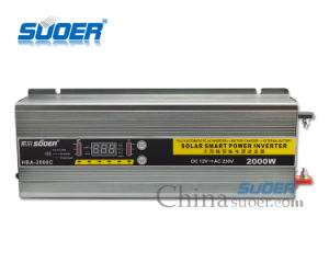 Suoer 12V 220V 2000W Solar Power Inverter with Charger (HBA-2000C) pictures & photos