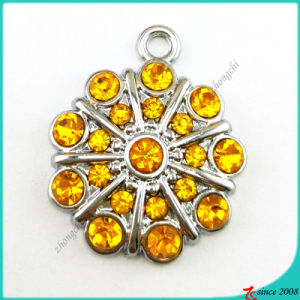 Orange Color Stone Flower Charms Pendant Jewelry (MPE)
