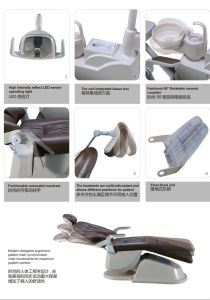 Luxurious Type Adec Cushion 9 Memory System Dental Chair Unit pictures & photos