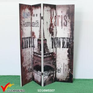 """""""Paris"""" Vintage 4 Panel Folding Room Divider Partition pictures & photos"""