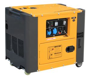 6kw Portable Silent Diesel Generator Air-Cooled Great Color Matching pictures & photos