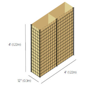 Military Hesco Barrier Galvanized Welded and PVC Coated Gabion Box