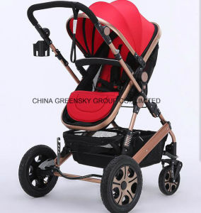 2016 Aluminium Alloy Baby Stroller Earthquake Proof En1888 Red Colour pictures & photos