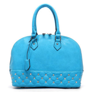 Quilted Rhinestone Bowler Lady Fashion Tote Bag pictures & photos