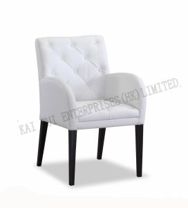 Modern Furniture White Lounge PVC Leisure Chair with Hand Rails