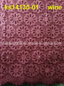 African Guipure Lace Fabric Polish Cord, Cupion Lace pictures & photos