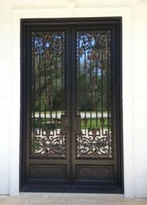 Square Top Double Entry Doors Rustic Effect (UID-D086) pictures & photos