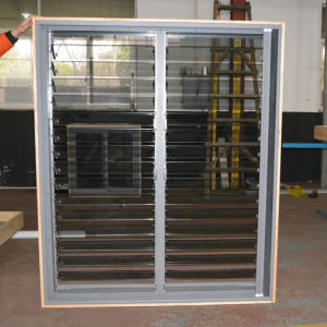 Small Size Good Quality Automatic Control Aluminium Glass Shutter Windows K09008 pictures & photos