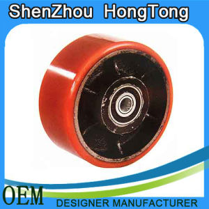 Polyurethane Caster Single Wheel with PP Spoke pictures & photos