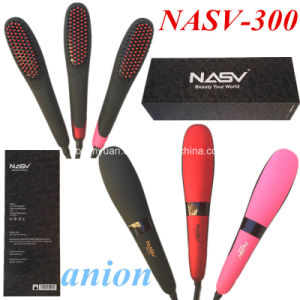 2016 Professional Anion Hair Straightener Beauty Star Nasv-300 Hair Straight Brush Ceramic Hair Straightener Brush with LCD Display pictures & photos