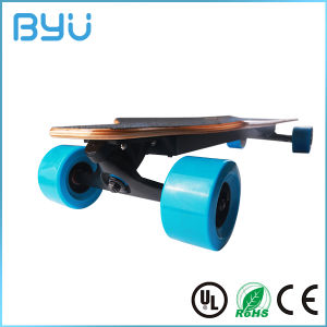 Custom Printing Solid Wood Deck Four Wheel Electric Skateboard pictures & photos