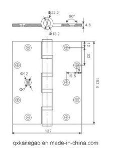 (4565-4BB) SUS304 Butt Hinge for Fire Door and Metal Door pictures & photos