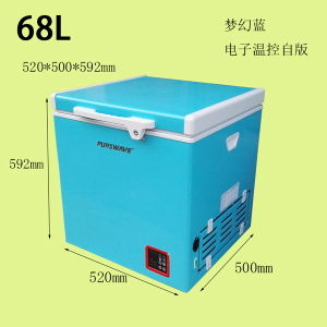 Purswave Bd/Bc-68 68L Vehicle DC Portable Refrigerator by Compressor for Camping 12V24V220V110V-20degree Powered by Solar by Battery pictures & photos