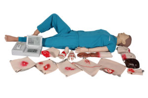 Advanced Medical Comprehensive First Aid CPR Training Manikin (LCD display) pictures & photos