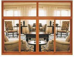 Livingroom Window/Big Window/Yellow Sandal Color/Aluminum Sliding Window pictures & photos