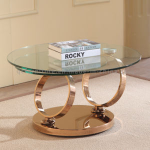 Simple Style Clear Glass Top Furnction Glass Coffee Table pictures & photos