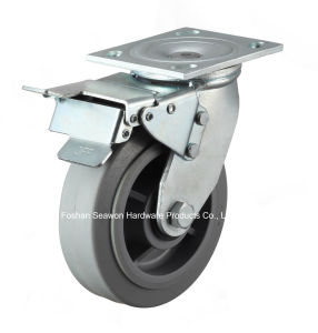 Caster Heavy Duty Swivel W/Dual Brake TPR Caster pictures & photos