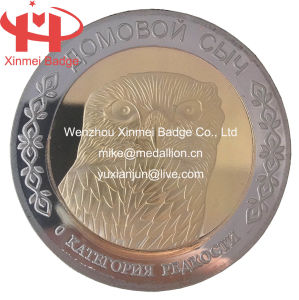Silver and Gold Plating Owl Coin