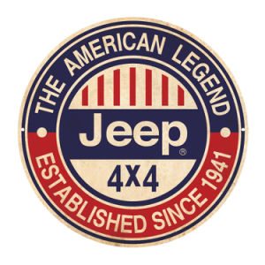 American Legend Jeep Round Metal Sign pictures & photos
