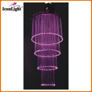 LED Crystal Fiber Optic Wedding Chandelier Ceiling Light (ICON-FC-03) pictures & photos