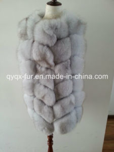 High Quality Women Winter Real Fox Fur Coat pictures & photos