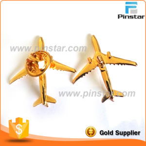 Factory Wholesale Vintage 3D Gold Metal Aircraft Brooch pictures & photos