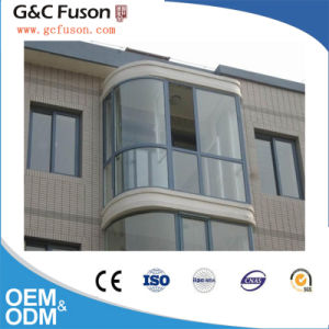 Arched Round Design Tempered Glass Aluminum Sliding Window for Balcony pictures & photos