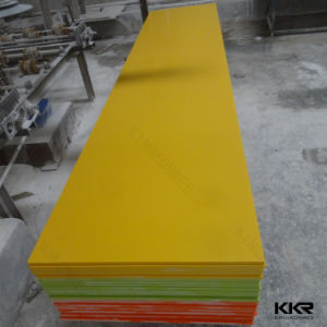 Yellow Decorative Wall Panel Acrylic Solid Surface pictures & photos