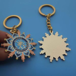35mm Oman Keychain Gold Plating Oman Keychain pictures & photos