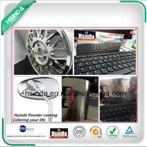 Aluminium Profile Silver Mirror Chrome Effect Color Paint Powder Coating pictures & photos