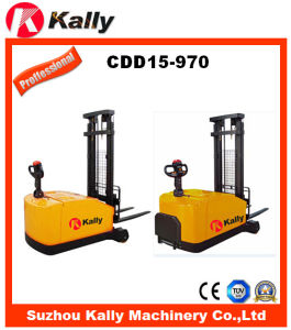 2 Stage Mast Walkie/Stand on Counterbalance Electric Stacker