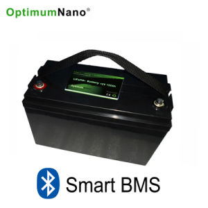 Bluetooth 12V 100ah LiFePO4 Lithium Battery for LED Lighting pictures & photos