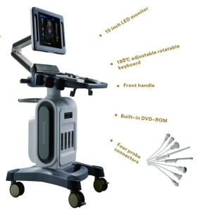 China Factory Full Digital Trolley 4D Color Doppler Scanner Ultrasound pictures & photos
