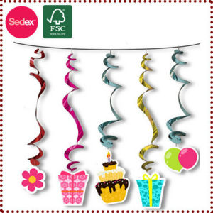 PVC Swirl Hanging Decoration