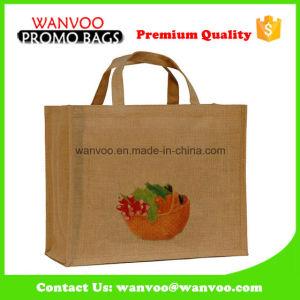 High Quality Promotional Reusable Jute Fashion Handbags pictures & photos
