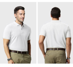 OEM Fashion European Style Custom Made Embroidered Logo Polo Shirt pictures & photos