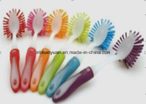Colored Dish Brush with Soft Handle