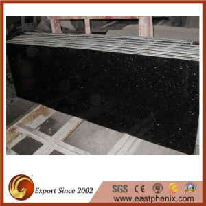 High Quality Black Galaxy Granite Countertop for Kitchen pictures & photos