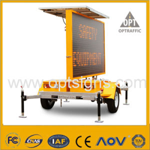 Optraffic Solar Powered Amber LED Light Traffic Control Road Safety Sign pictures & photos