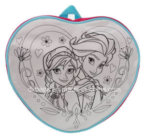 "Frozen Heart Shaped ""Colour Me in"" Backpack pictures & photos"