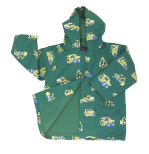 Rains Raincoat Hooded Cute Green PU Toddler Light Rain Jacket pictures & photos