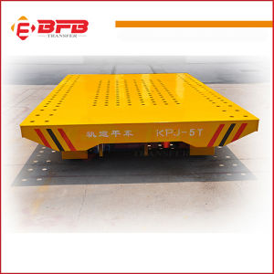 Large Table Rail Flat Trailer for Factory Cargo Handling on Rails pictures & photos